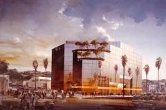 Projekt banku w Los Angeles. Źródło: Archiwum SARP w Warszawie.